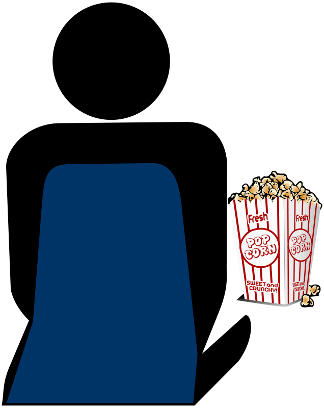Free Cinema 2 Person with Popcorn