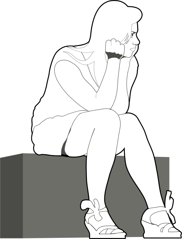 Free Clipart: Waiting girl O by Rones | rones