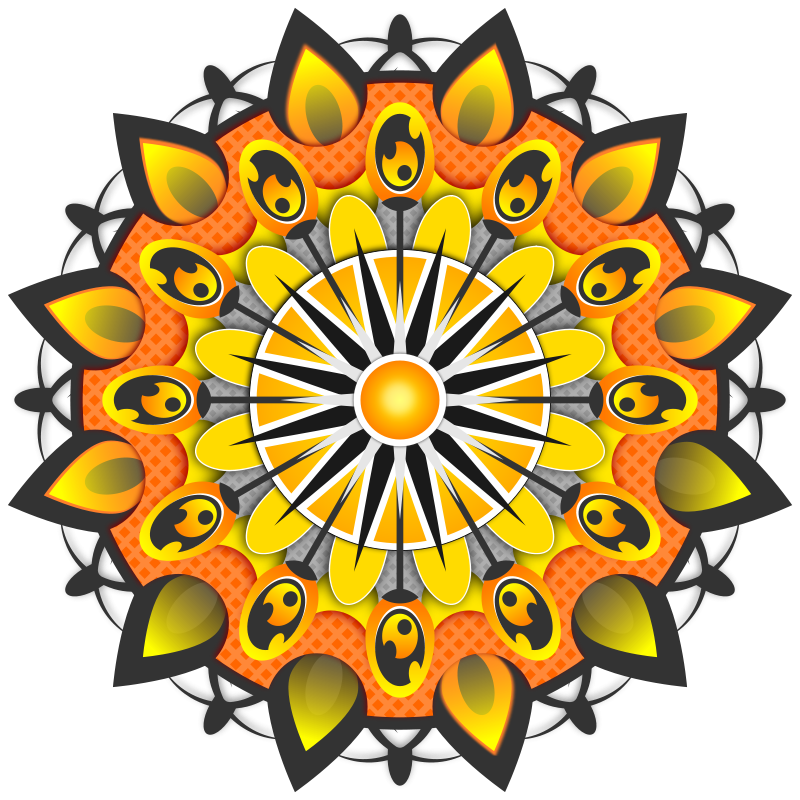 Free Mandala Yellow