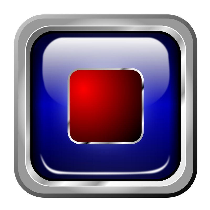 Free Icon Blue Multimedia Stop
