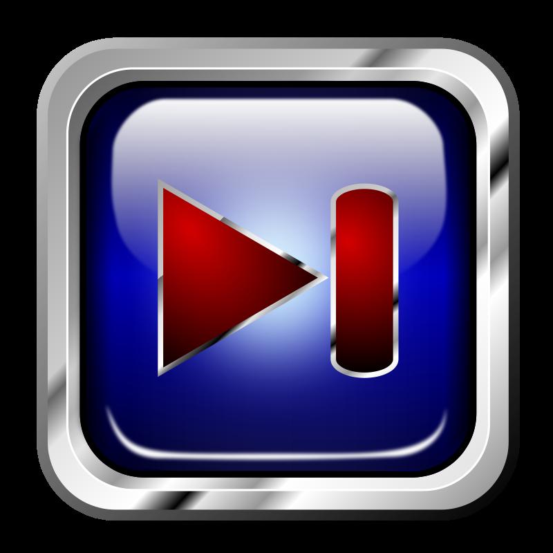Free Icon Blue Multimedia Next