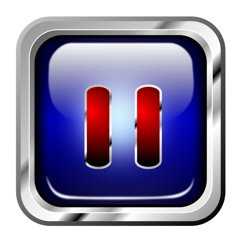 Free Icon Blue Multimedia Pause