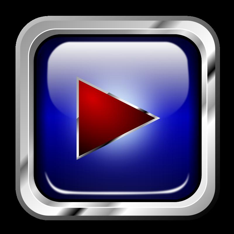 Free Icon Blue Multimedia PLay