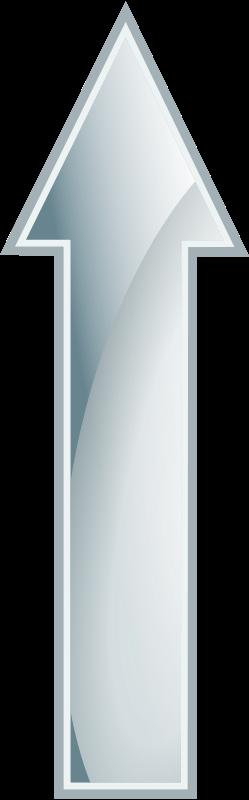 Free Glossy White Arrow