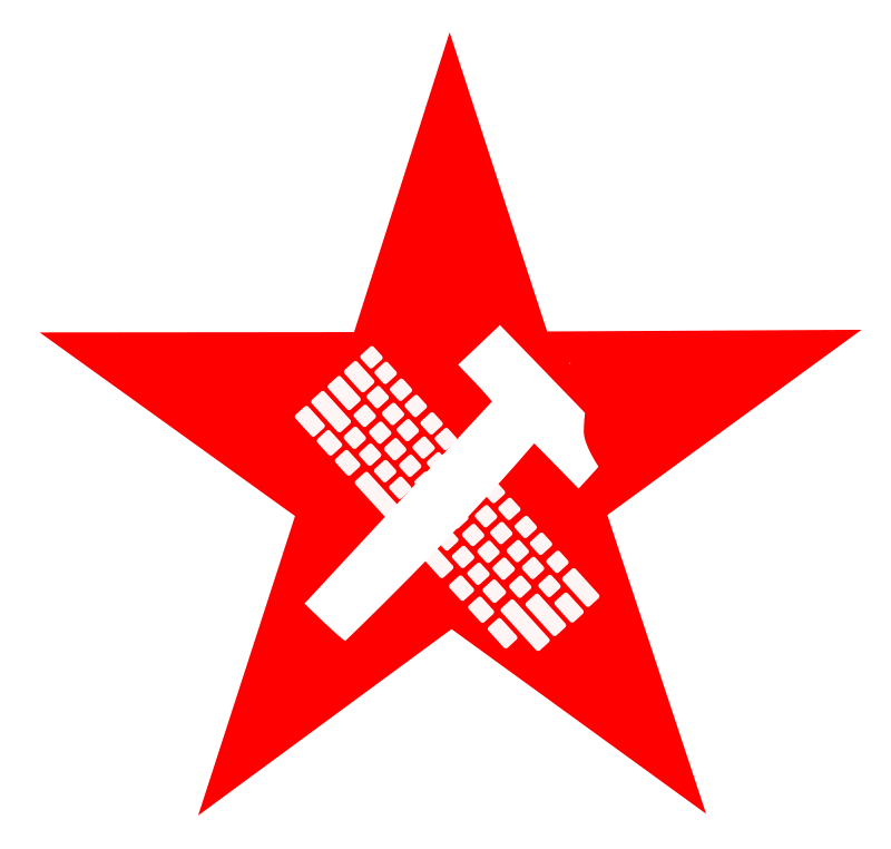 Free Clipart Hammer And Keyboard In Star Proletariat Worker