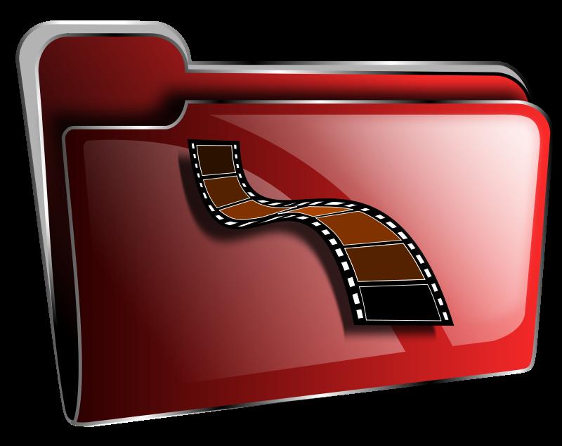 Free Folder icon red video