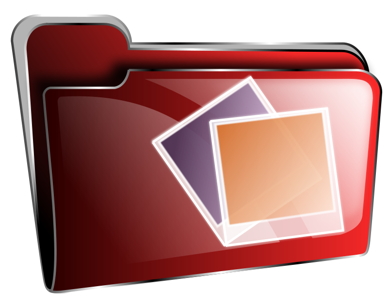 Free Folder icon red photos