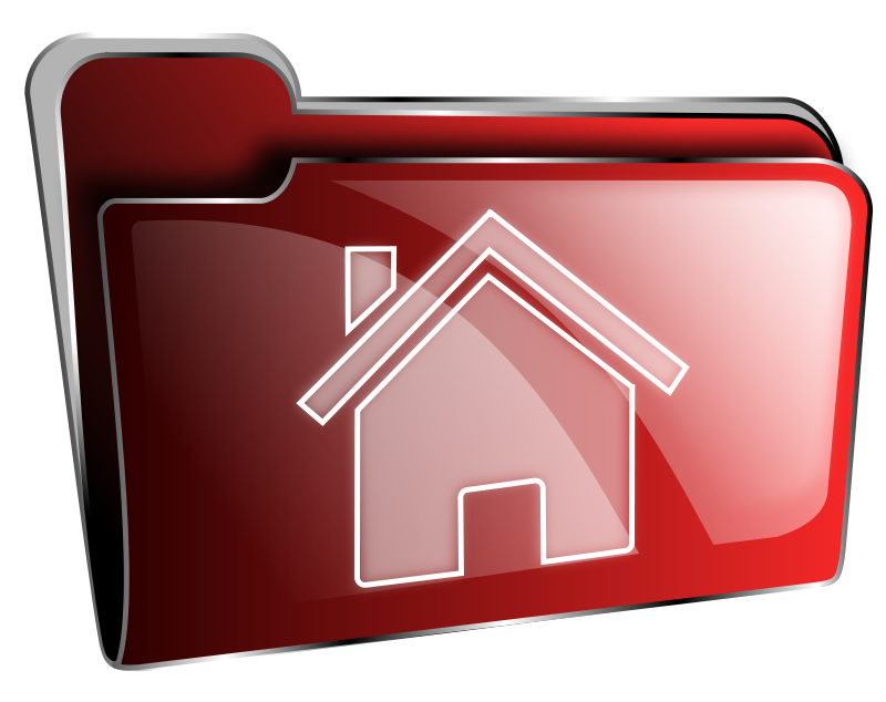 Free Folder icon red home