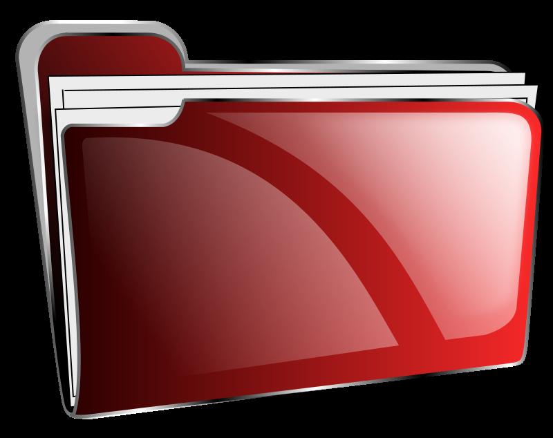 Free Folder icon red full