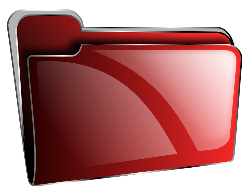 Free Folder icon red empty