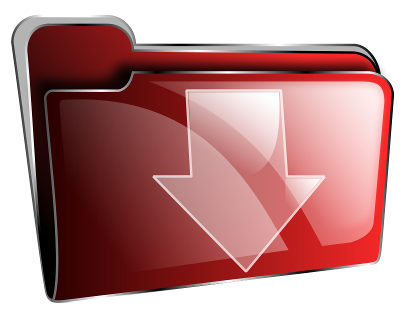 Free Folder icon red download