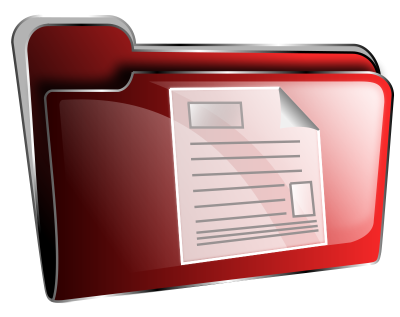 Free Folder icon red document