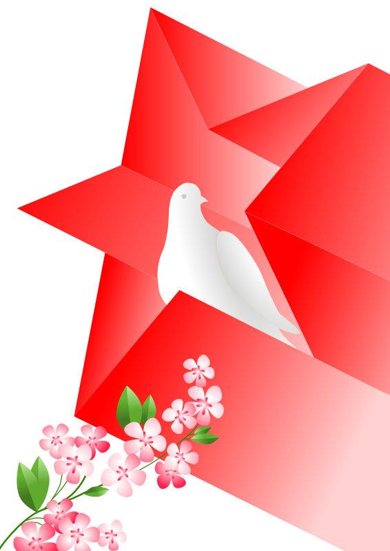 Free soviet poster dove in star