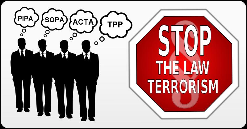 Free Stop the law terrorism - SOPA, PIPA, ACTA, TPP