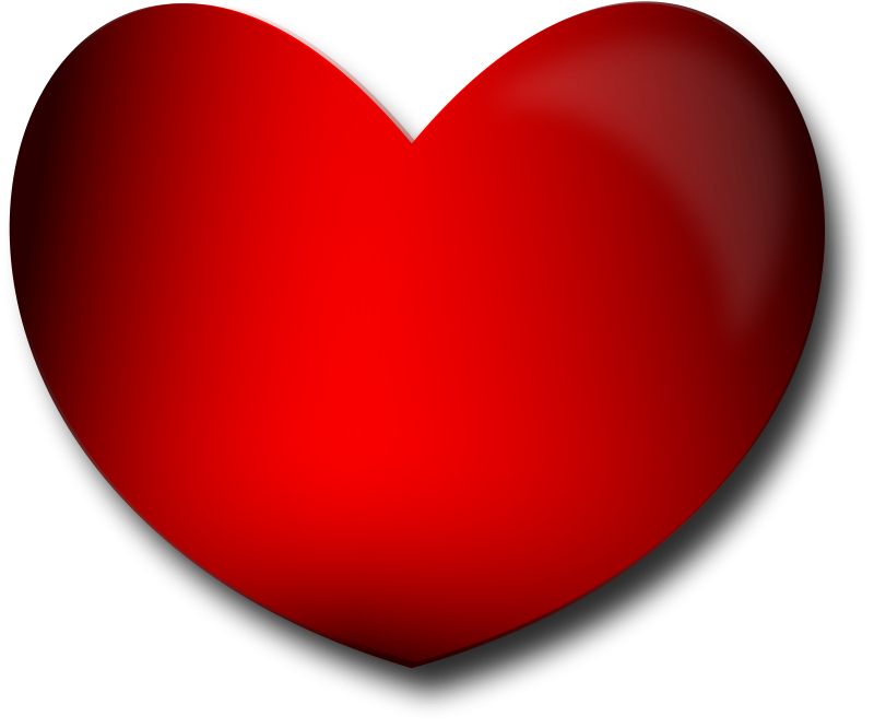 Free Clipart: Glossy Heart | Merlin2525