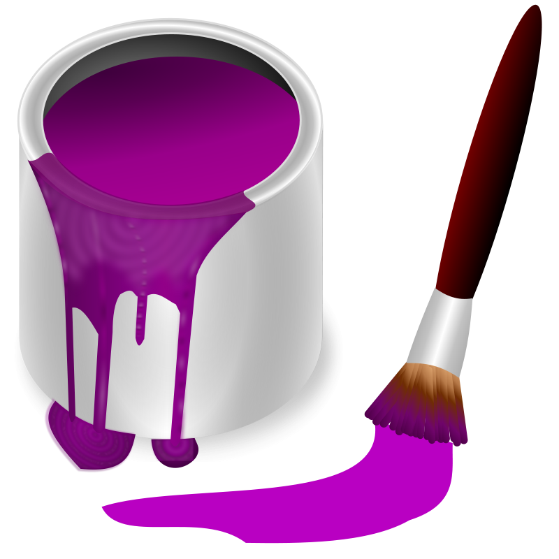 Free Clipart: Color bucket purple | frankes