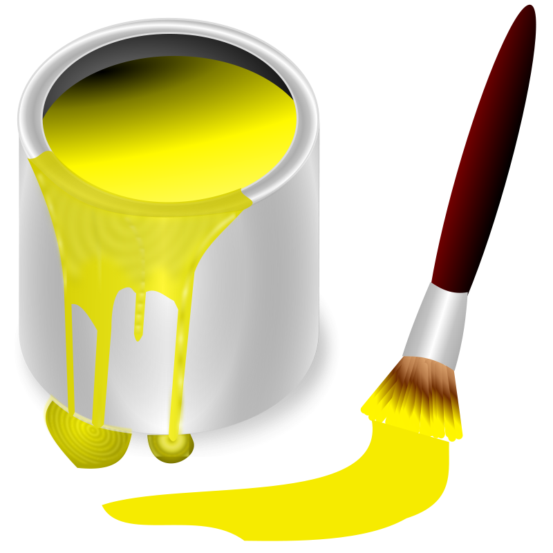 Free Clipart: Color bucket yellow | frankes