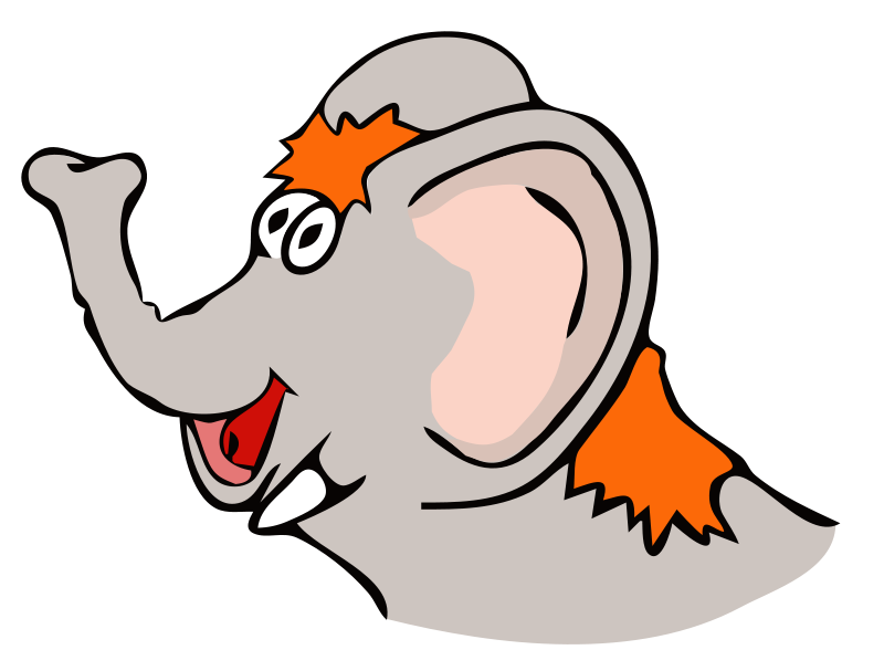 Free drawn elefant