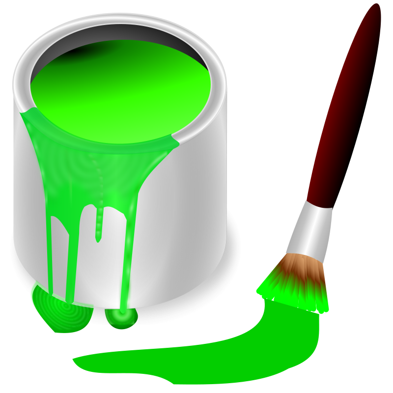 Free color bucket green