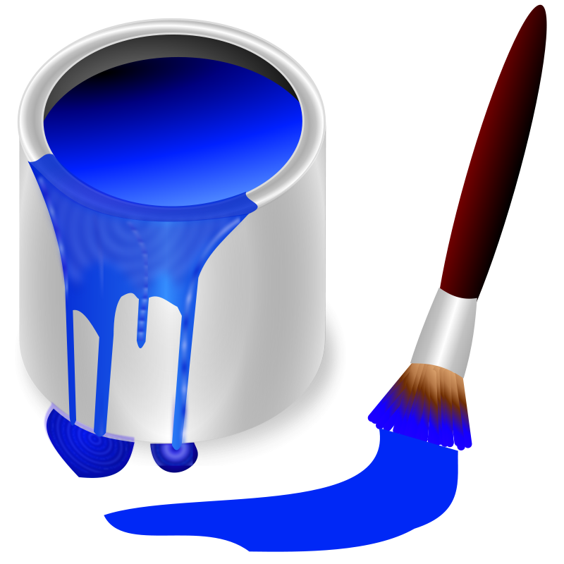 Free color bucket blue
