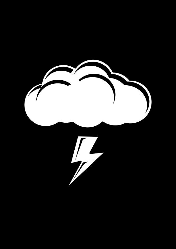Free Thundercloud Black & White