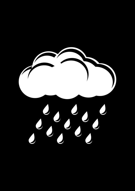 Free Raincloud Black & White