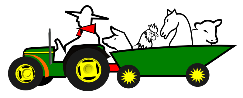 Free Logo tractor animales