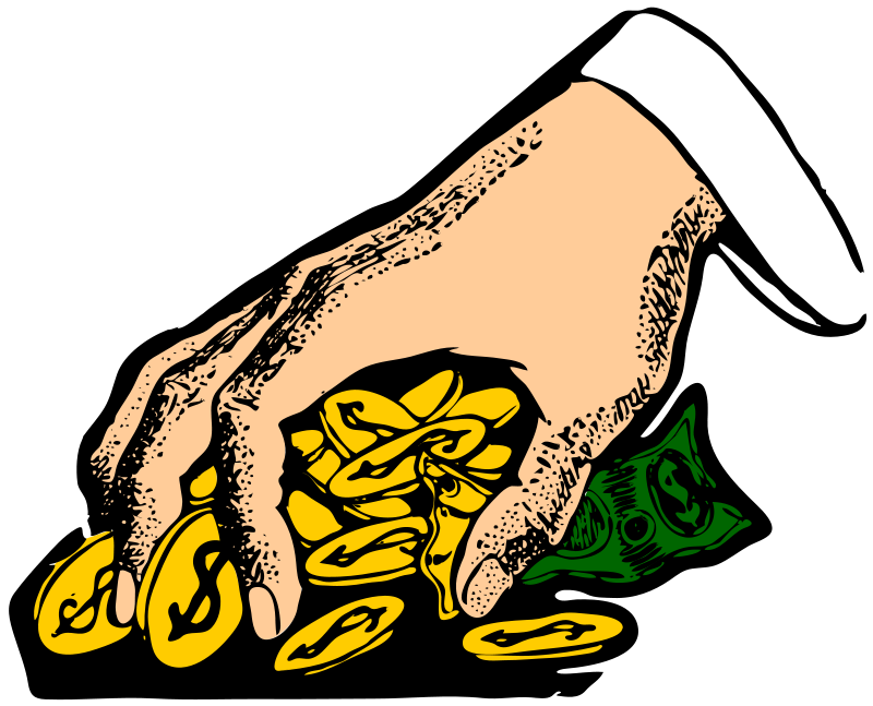 Free Clipart: Money grabber | johnny_automatic