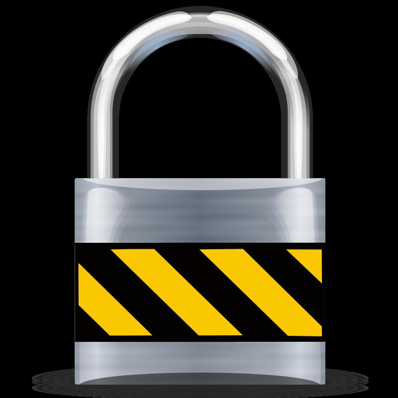 Free Secure Padlock Silver Medium