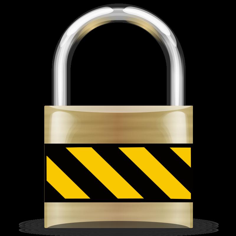 Free Secure Padlock Gold