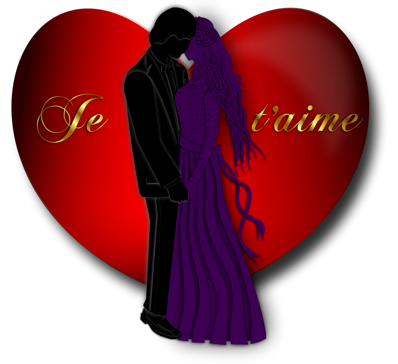 Free Clipart: Je t'aime Valentine | Merlin2525