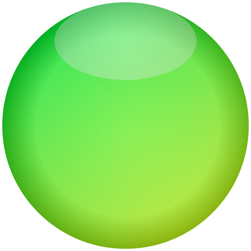 Free Empty Button Green