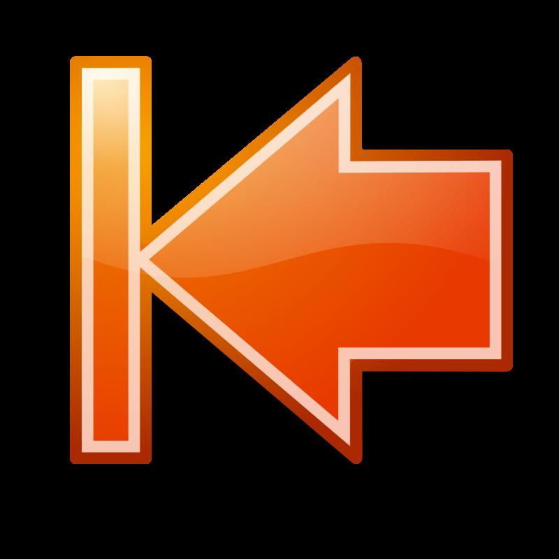 Free Clipart: Go First Orange Button Tango Style | rygle