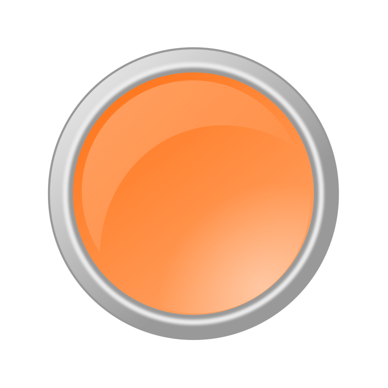 Free Glossy Light Orange Button