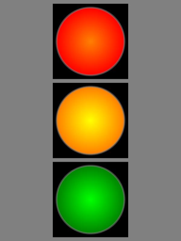 Free SMIL animation Verkehrslichtsignalanlage
