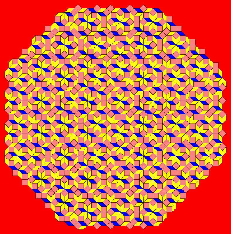 Free QuasiCrystal 8fold symmetry