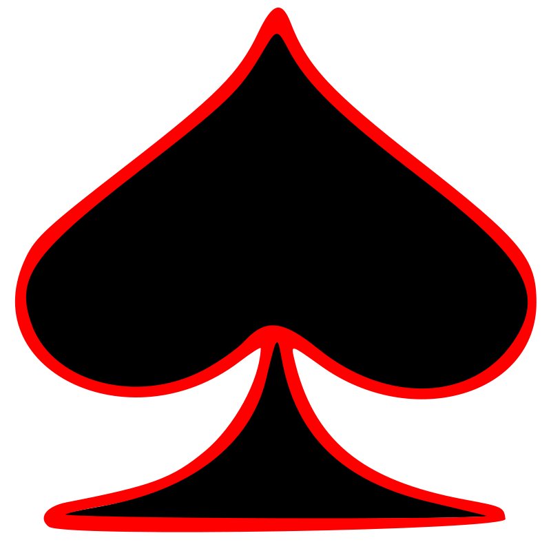 Free Outlined Spade Playing Card Symbol