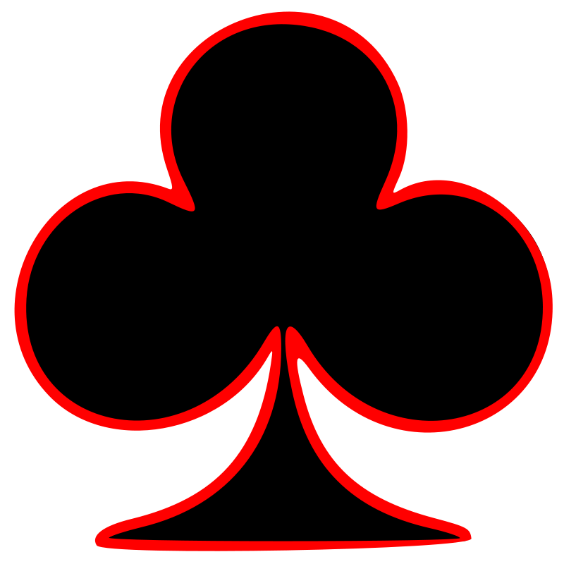Free Outlined Club Playing Card Symbol