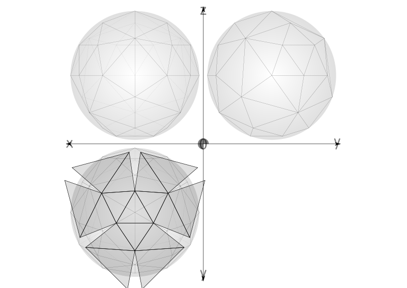 Free 46 1/4 net geodesic sphere