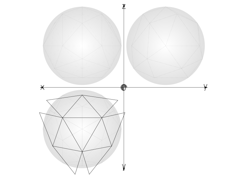Free 31 1/4 net geodesic sphere