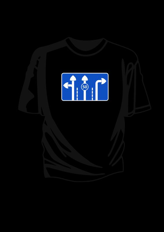 Free T-shirt mushroom rad sign