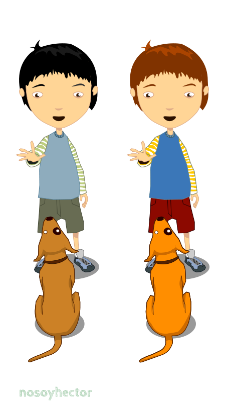 Free child & dog - niño y perro