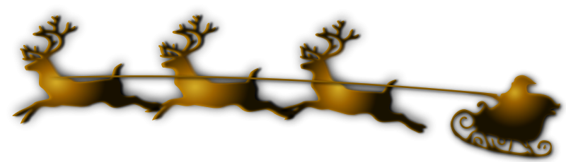 Free Clipart: Santa and Reindeer Remix | Merlin2525