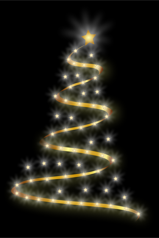 Free Clipart: Modern Christmas Tree 4 | Merlin2525