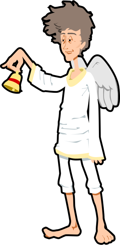 Free angel with bell