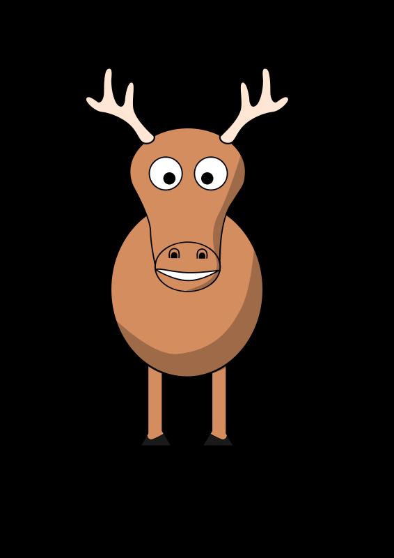 Free cartoon reindeer