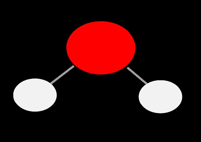 Free Water Molecule H2O