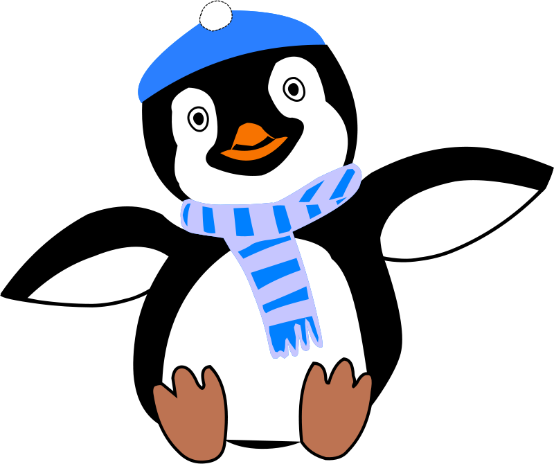 Free Clipart: Pinguin im Winter | pulliver