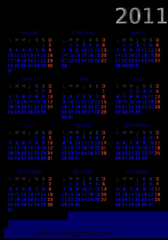Free Open Source 2012 pocket calendar