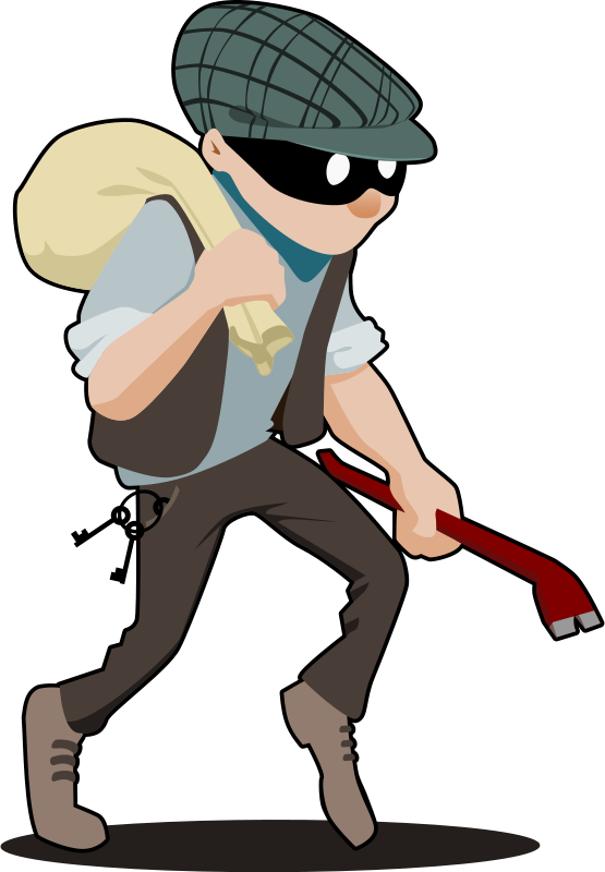 Free Clipart: Burglar   tzunghaor